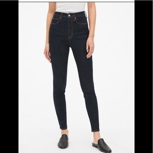 GAP Super High Rise Skinny Dark Rinse Jean